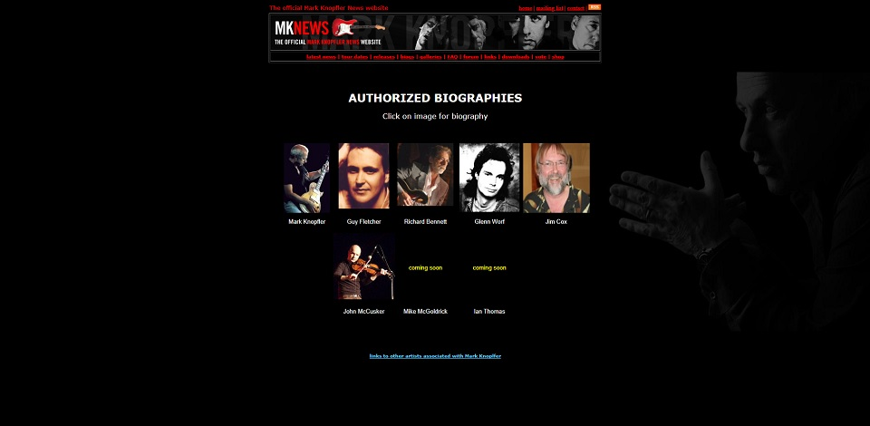 Biogs page - previous MKN site
